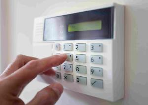 Office security with keypad system